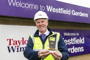 Site Manager David McClure with his Seal of Excellence trophy. (Photo: Iain McLean)