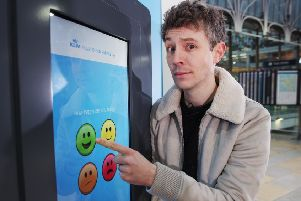 BBC Radio 1 presenter Matt Edmondson launches KLM Royal Dutch Airlines' Mood Booster pop up. (Photo: Joe Pepler/PinPep)