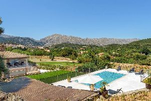 Mountain views from Villa Es Costes.