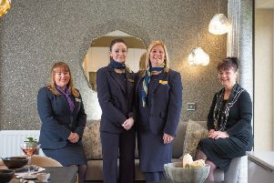 From left:  Pamela Duff (sales executive at Taylor Wimpey West Scotland), Emma Craig and Catherine Russell (development sales managers at Miller Homes), and Jackie Farr (sales consultant at CALA Homes (West) - (Photo by Sandy Young)