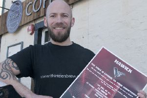 13 Brew co-owner Steve Anderson promoting this week's audition.