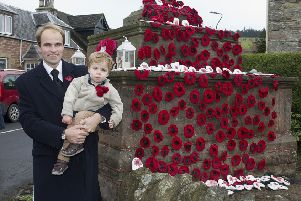Alexander and Archie Laing at Denholm's War Memorial