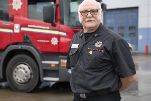 Veteran firefighter Dave Farries, 66, originally from Hawick but now of Currie in Edinburgh.
