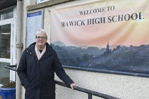Clair Ramage at Hawick High School.