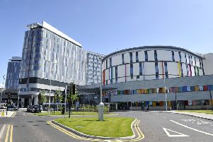 The Queen Elizabeth University Hospital where two deaths have been linked to pigeon droppings.
