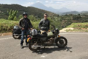 On the road...Rob Armstrong and William Irving loved their African travels so much they've agreed it won't be their last trip.