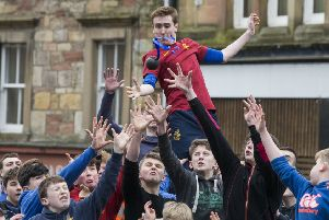 Last year's ba' game in Jedburgh.
