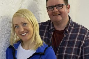 Jeff Thomson (Producer/Musical Director) and Marie McCullough (Choreographer) production team for  Gala Opera's production of Sweet Charity at the Volunteer Hall, Galashiels from March 4-10.
