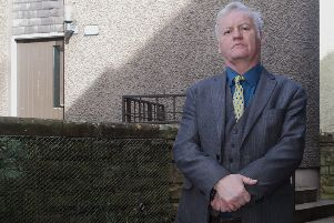 Councillor Davie Paterson in Hawick's Howegate.