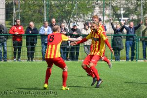 Rossvale are close to promotion after their win over Neilston (pic by HT Photography/@dibsy_)