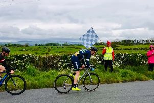 Graham McLeod wins the sprint to take the Ayrshire APR win.