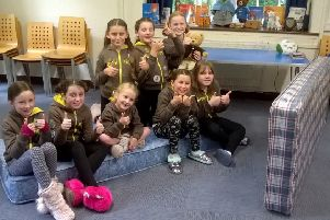 1st Crichton Brownies say goodbye to the old tartan mattresses at Vogrie.