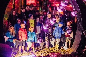 Children enjoying Midlothian Fire and Light Festival 2018. This year the festival will receive �10,000 from Events Scotland while Tam O'Shanter's Trail at Roslin Glen will receive �8,000.