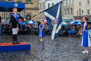 Kelso Connections...the four corners ceremony in Kelso which inspired Colin Henderson to launch the project ten years ago. (Pic: Gavin Horsburgh).