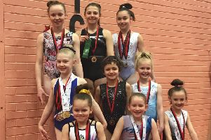 All the Garioch gymnasts entered passed easily with either distinction or commended