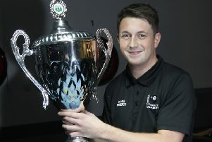 Ross Fernie, Pool player and winner of Scottish Pool Championships (pic: Alastair Linford)