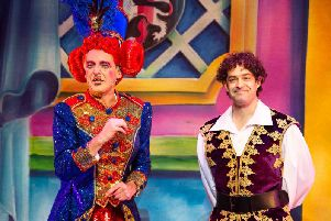 Alan McHugh as Nurse Neillie Macduff and Lee Mead as Prince Harry.