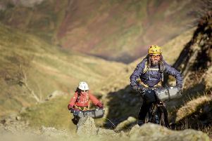 Pedal power...Andy McKenna and his wife Aneela have been on a very different journey since he first became ill in 2007 but they are not letting MS take over their lives completely and still enjoy regular mountain bike rides.