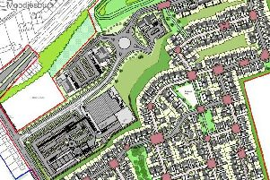 The part of the mammoth site closest to Moodiesburn will contain the supermarket