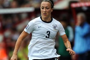 Lucy Bronze in action for England