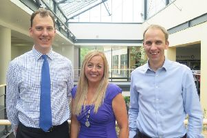 The Midlothian team behind the TEC digital project L-R Matthew Curl, Morag Barrow and Jamie Megaw