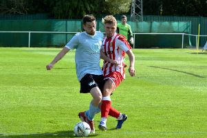Kieran Lawrence on the ball for Formartine during Saturday's win over Deveronvale