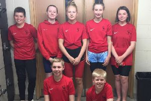 The young Duns club swimmers.