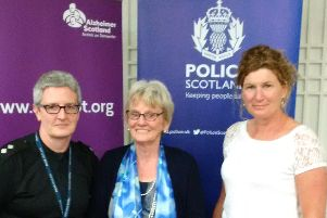 Photo from L to R Inspector Carron McKellar, Fredda McIntosh, who is supported by Alzheimer Scotland and Sarah Duff, Service Manager, Alzheimer Scotland