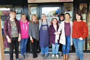 Staff and volunteers at the Aboyne charity shop