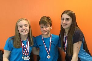 From left: Erin Taylor, Mark Scott and Caitlyn Dodds