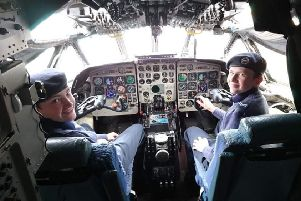 These cadets get the chance to see round the cockpit