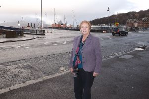 Argyll and Bute Council's deputy leader, Councillor Ellen Morton, pictured on a visit to Rothesay in February 2014.