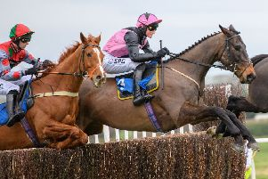 Blue Flight jumps ahead in the Premier Chase at Kelso.