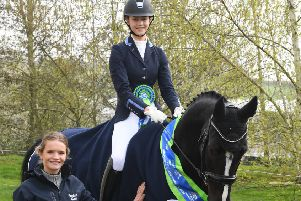 Carla Milne with horse Hey Good Looking
