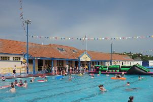 The scorching summer brought a huge number of visitors to the pool