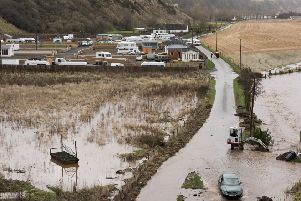 Concerns the North Esk Park could be flooded during Storm Frank led to several caravans being removed.