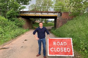 MP Andrew Bowie wants the road reopened as quickly as possible
