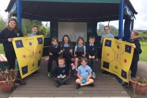 Lairhillock pupils play their part in recycling