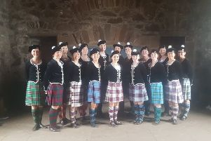 Dunvegan Dance Academy performed at Dunnottar Castle