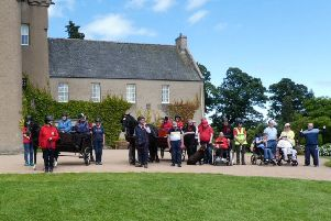 The Maryculter group during their visit to Crathes Castle