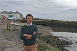 Andrew Bowie is warning of the unseen dangers of harbour swimming