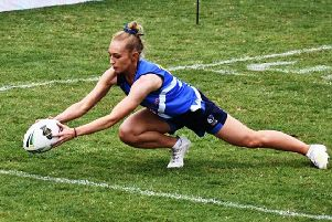 Leia Glading was part of the Scotland Mixed Open team that came third in the Touch Rugby World Cup