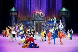 The cast of Disney on Ice are all set to perform at Glasgow's Braehead Arena