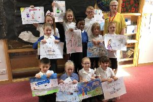 Newtonhill Primary School pupils display their artwork