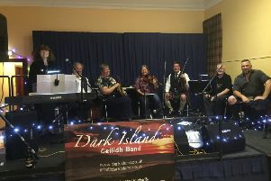 The ceilidh band during the 20th anniversary celebration in Kirkton of Durris Hall