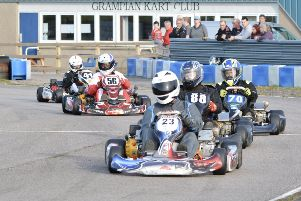 Twin Engined Prokarts - 23, Rik Christie, 88, David Leiper, 70, Nicky Sutherland, 56, Gary Flemming, 41, Brendan Castle