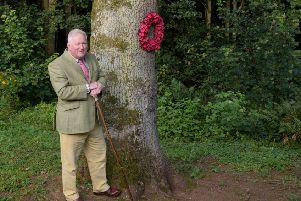 Councillor Colin Pike nominated the Peace Tree at Dunnottar Church. Picture: Niall Benvie