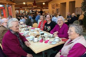 The Laurencekirk groups enjoy their afternoon tea