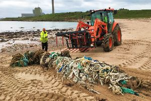 East Grampian Coastal Partnership receives �40,000 to extend its plastic waste project to the entire Aberdeenshire coastline. Picture: Aberdeenshire Council