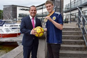 Ross pictured with joint council leader Councillor Andrew Polson